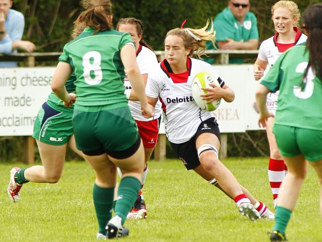 Katie Hetherington representing Ulster Women rugby against Connacht on Saturday at Clogher Valley RFC.  The match was an Inter-Pro warm up match.  Ulster Women went on to win the match 40 - 29.