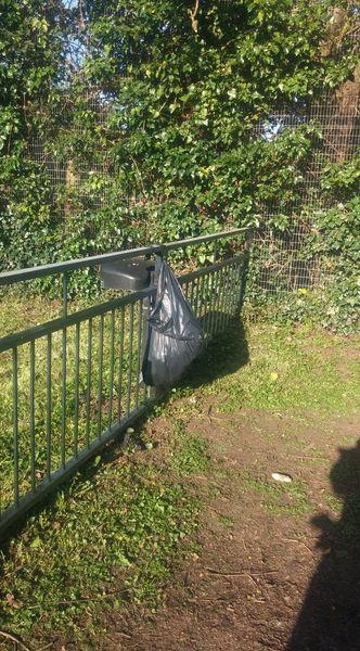 The dog waste bin in Moulton Drive was removed