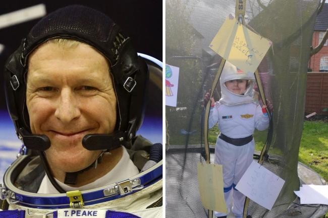 Tim Peake has praised Chloe's space-themed fundraiser 'to the moon' for Hope for Hasti