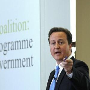 This Is Wiltshire: David Cameron during the launch of the Coalition Agreement document