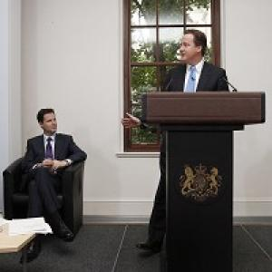 This Is Wiltshire: Nick Clegg and David Cameron launch the Coalition Agreement document