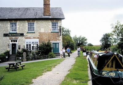 This Is Wiltshire: The Barge at Honeystreet scores well on atmosphere