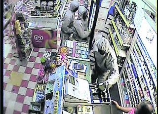 Store robbed by three masked men
