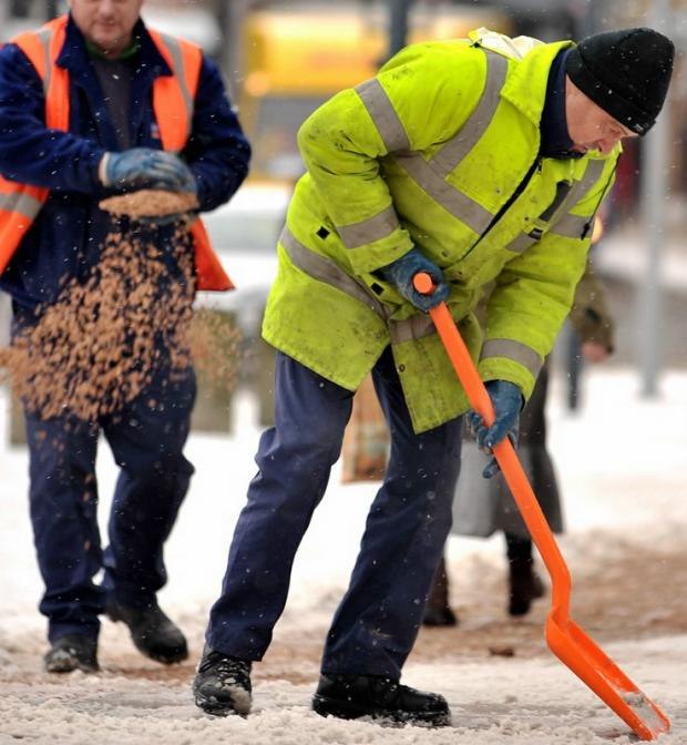 This Is Wiltshire: Council workers lay grit last winter