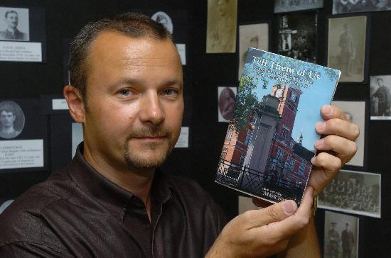This Is Wiltshire: Mark Sutton with his book