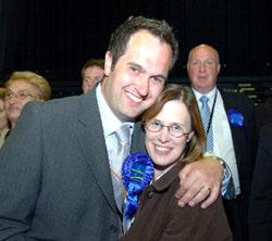 This Is Wiltshire: Glenn Smith, pictured with wife Helen, retained his seat at Covingham and Nythe
