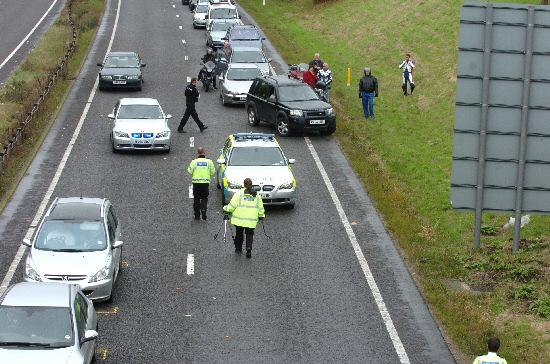 Long wait for drivers following the accident on the A419 on Saturday