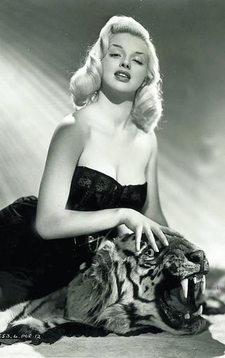 This Is Wiltshire: A typical Diana Dors pose, in a picture taken at the height of her movie glory days
