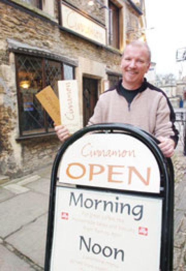 This Is Wiltshire: Tony Chivers runs Cinnamon in Corsham High Street