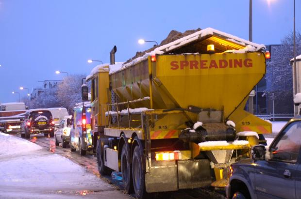 This Is Wiltshire: Gritters will be out in force tonight on Wiltshire's roads