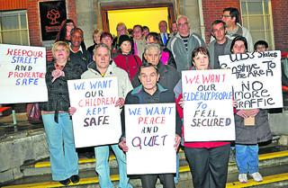 Protesters against plans for a late night pharmacy in Gorse Hill gather at the Civic Offices in Swindon in November last year