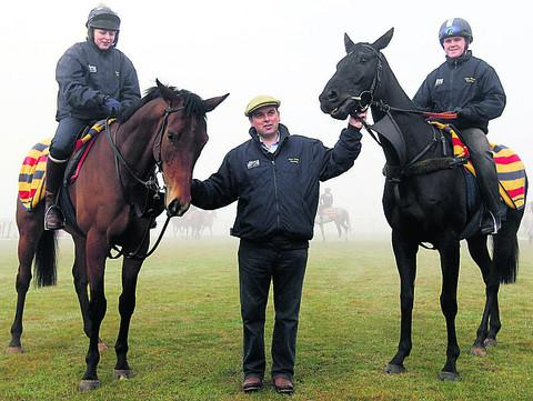This Is Wiltshire: Alan King, pictured with Grumeti (left)