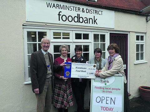 This Is Wiltshire: Volunteers at the Warminster Foodbank, which is supported by the Trussell Trust