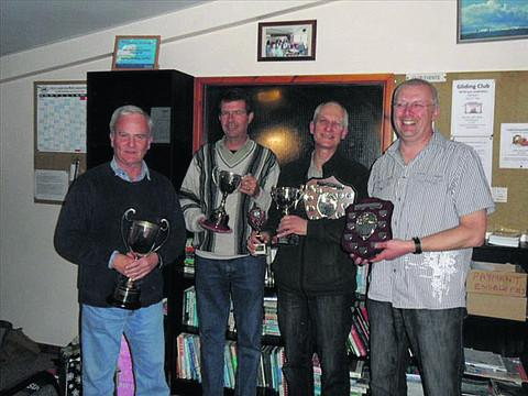This Is Wiltshire: Award winners Alastair McGregor, Mike Thorne, Stuart North and Mark Hawkins