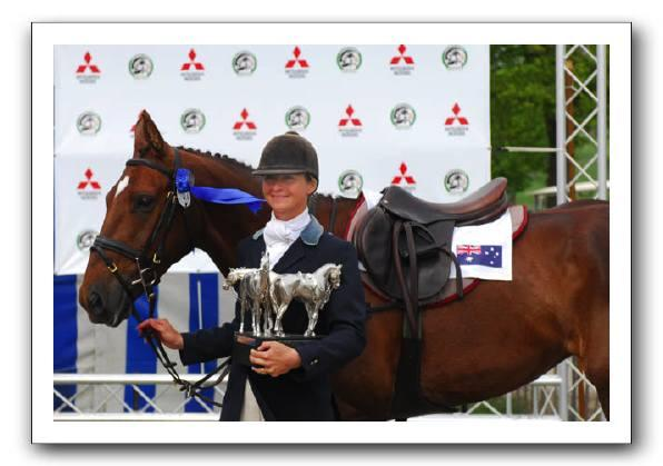 This Is Wiltshire: Lucinda Fredericks celebrates with Headley Britannia