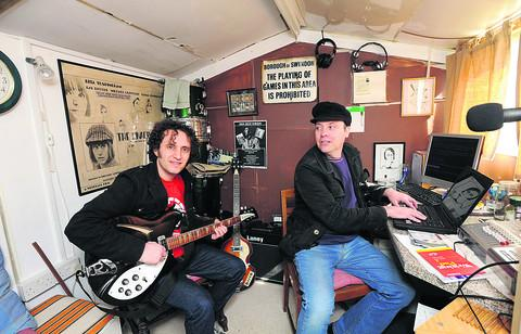 This Is Wiltshire: Rob Dady with Bradford on Avon musician Julian Pugsley, who records as Blake and has an album due out on 208 Records this month