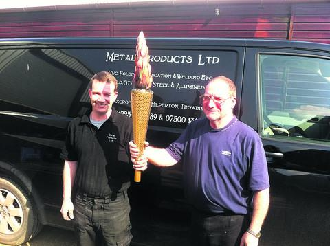This Is Wiltshire: Jason and Aubrey Gumm did the ironwork for the torch