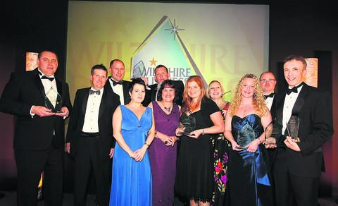 This Is Wiltshire: The winners of the 2011 Wiltshire Business Awards at the Four Pillars Hotel last night