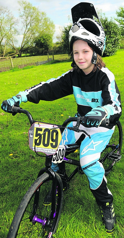 Nine-year-old Jamie Phillips will represent Great Britain in the BMX World Championships next month