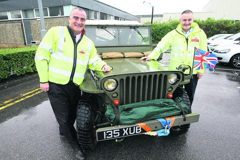 This Is Wiltshire: Ray Pipe and Ian Fraser with their trusty Hotchkiss Jeep