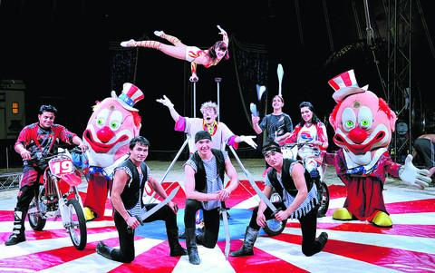 This Is Wiltshire: Members of Uncle Sam's Great American Circus