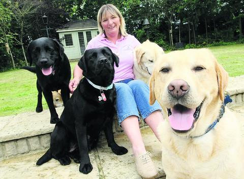 This Is Wiltshire: Mandy Taylor, from Blunsdon, has organised a sponsored dog walk and has received a royal letter from Charles and Camilla