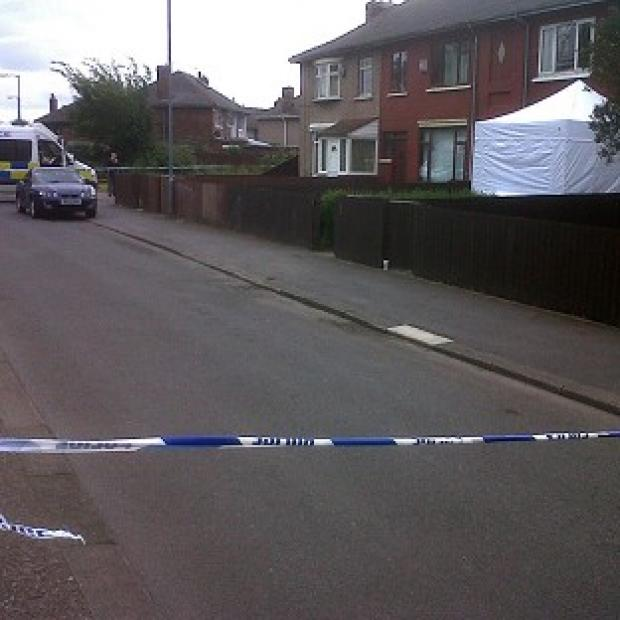 This Is Wiltshire: Police at Cherwell Terrace in Middlesbrough following the discovery of a body