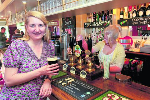 This Is Wiltshire: CAMRA is celebrating its 600th member, Fay Arbon, who is pictured at The Sun Inn