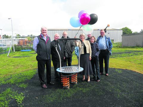This Is Wiltshire: Bob Woodward, Phil Stevens, Terry Eyles, Nina Laughrin, Diana Hughes and Bob Lewis open Pewsey play area