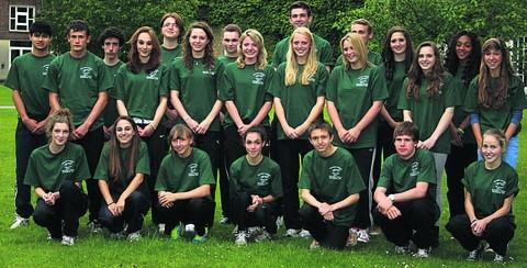 This Is Wiltshire: Wiltshire's team heading to the English Schools Championships this weekend at Monday's get-together at Devizes School