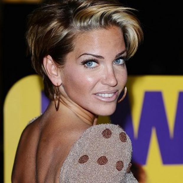 This Is Wiltshire: Sarah Harding went to a man's aid in Ibiza