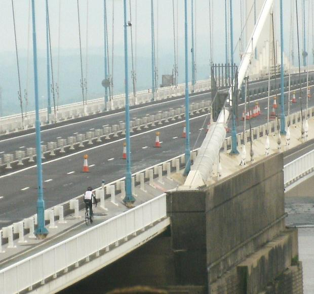 This Is Wiltshire: The transporter was due to cross the Severn Bridge today