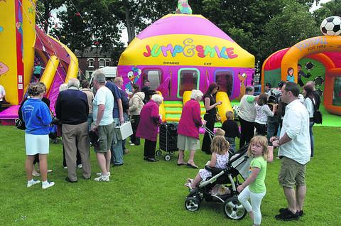 The children's fete at Faringdon Road Park
