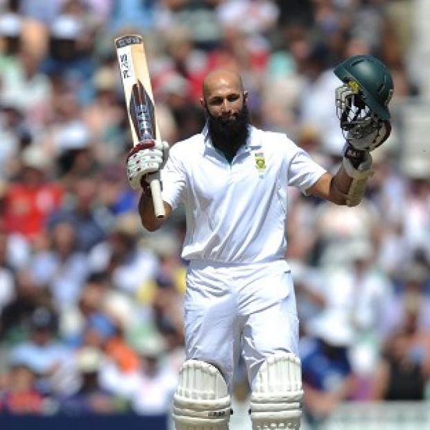 This Is Wiltshire: Hashim Amla celebrates his 250 during the first Test