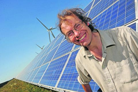 This Is Wiltshire: Director Adam Twine at Westmill Solar Farm