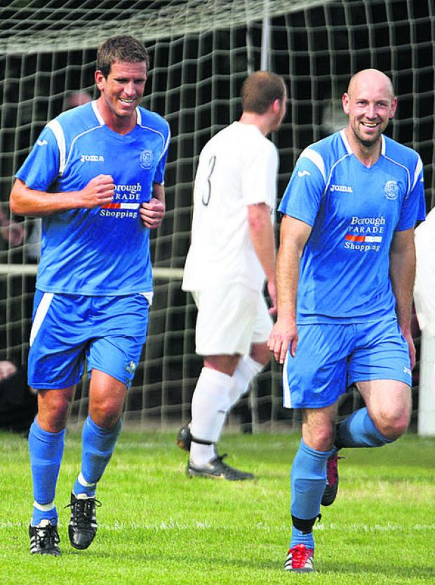 This Is Wiltshire: Chippenham Town manager Nathan Rudge (left) has no problems with winning ugly