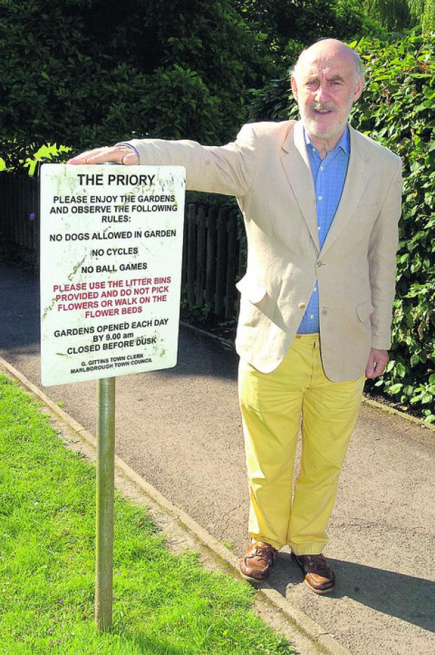 This Is Wiltshire: Coun Noel Barrett-Morton is complaining about youngsters making a mess of the Priory Gardens