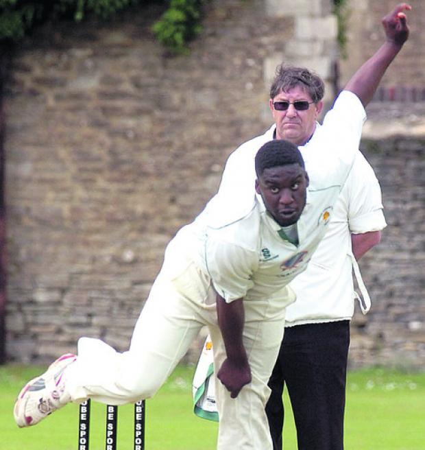This Is Wiltshire: Ashur Morrison took two wickets in Corsham's defeat against Weston-super-Mare