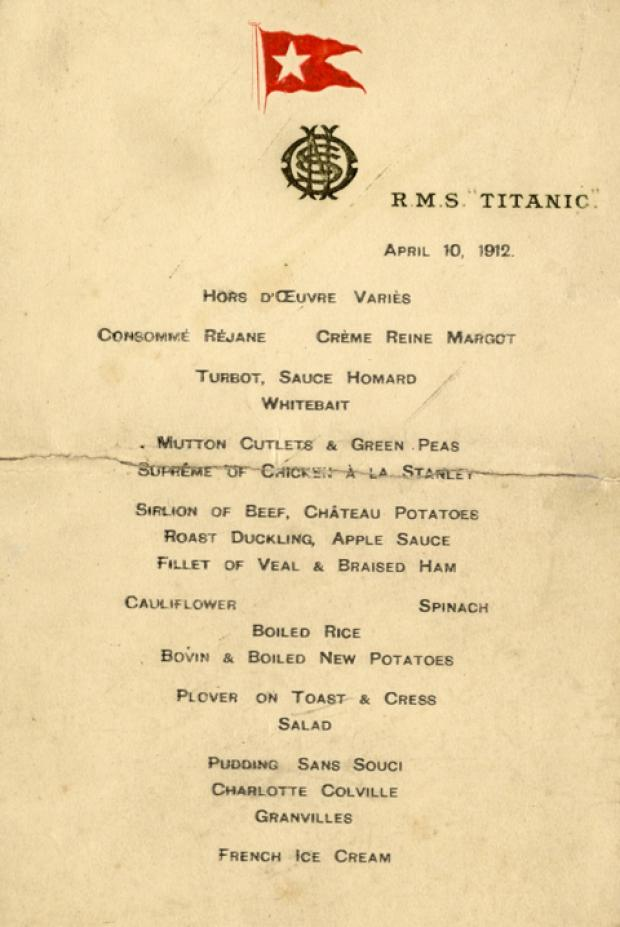 This Is Wiltshire: Titantic menu sells at auction for £46,000 in Devizes