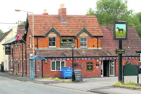 This Is Wiltshire: The Black Horse has undergone renovations after a major fire