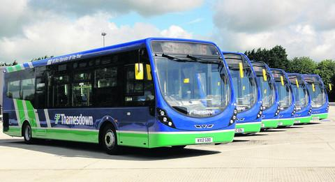 This Is Wiltshire: The Thamesdown Transport buses waiting for you to choose their names