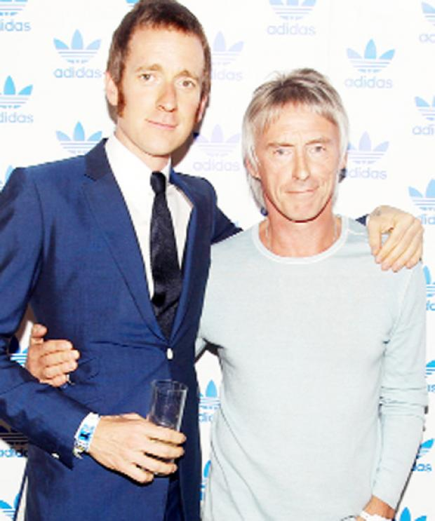 This Is Wiltshire: Bradley Wiggins meets his hero, musician Paul Weller