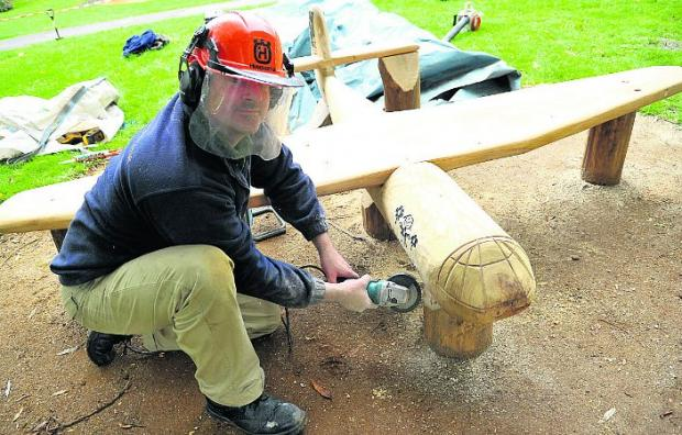 This Is Wiltshire: Tom Weir makes some finishing touches