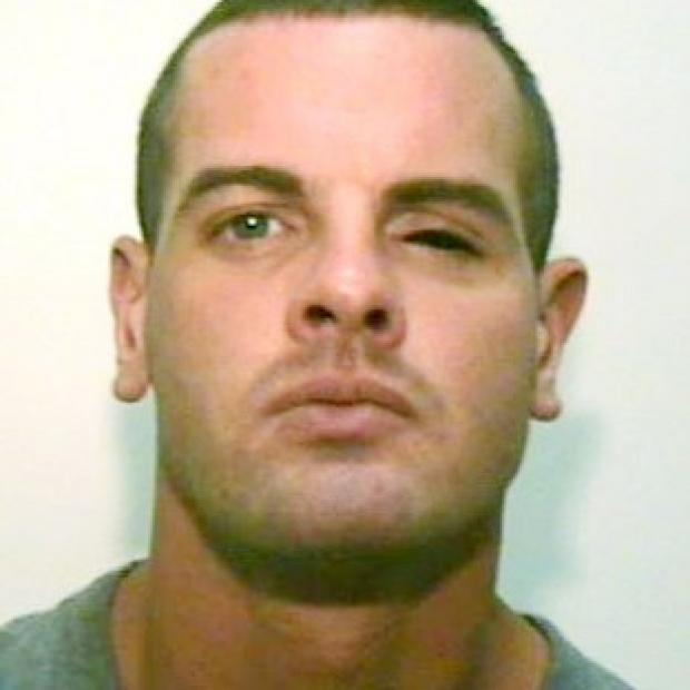 This Is Wiltshire: Dale Gregan, 29, from Droylsden, Tameside, wanted for questioning by police after a man was found dead following a gun attack