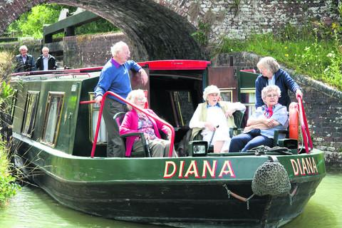 This Is Wiltshire: The Bruce Trust's Diana on a trip along the Kennet and Avon Canal
