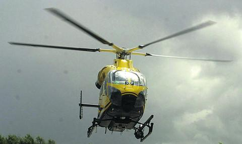 This Is Wiltshire: Man, 50, who fell from cherry picker at Calne flown to hospital