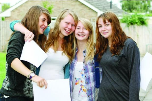 This Is Wiltshire: Party time for Emma Taylor, Catherine Tansey, Katie Charleston and Lucy Fry