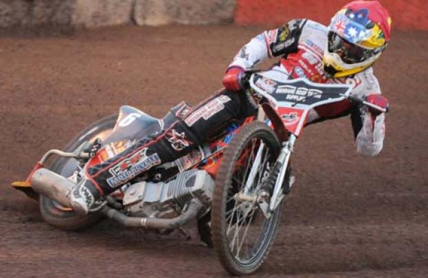 Swindon's Nick Morris in action last night