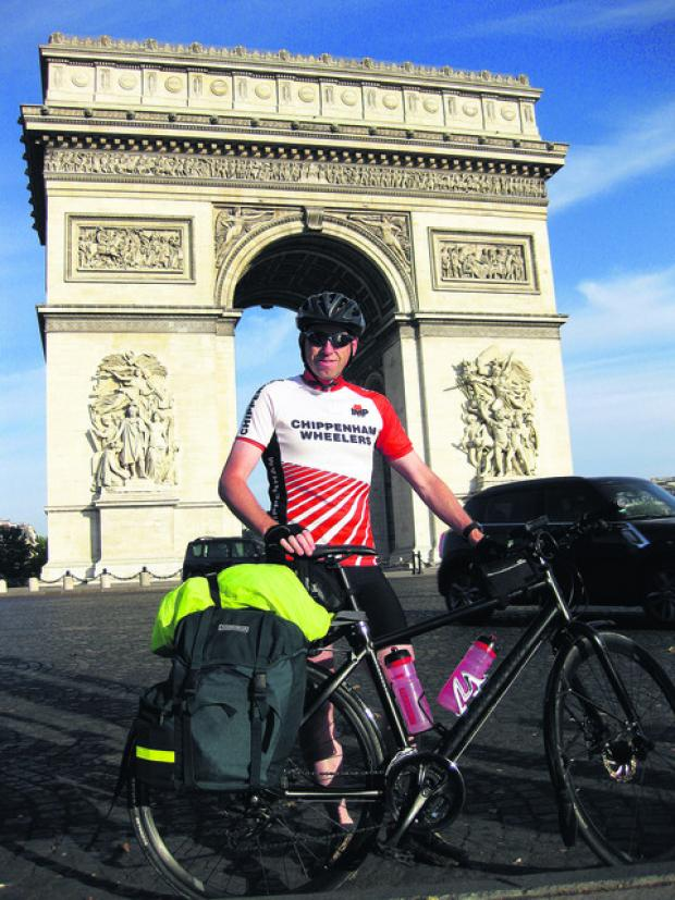 This Is Wiltshire: Gary Hewitt-Long of Devizes in front of the Arc de Triomphe, Paris