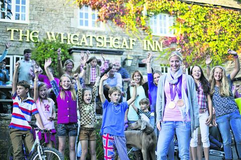 This Is Wiltshire: Olympian Laura Bechtolsheimer is welcomed home to her local aft